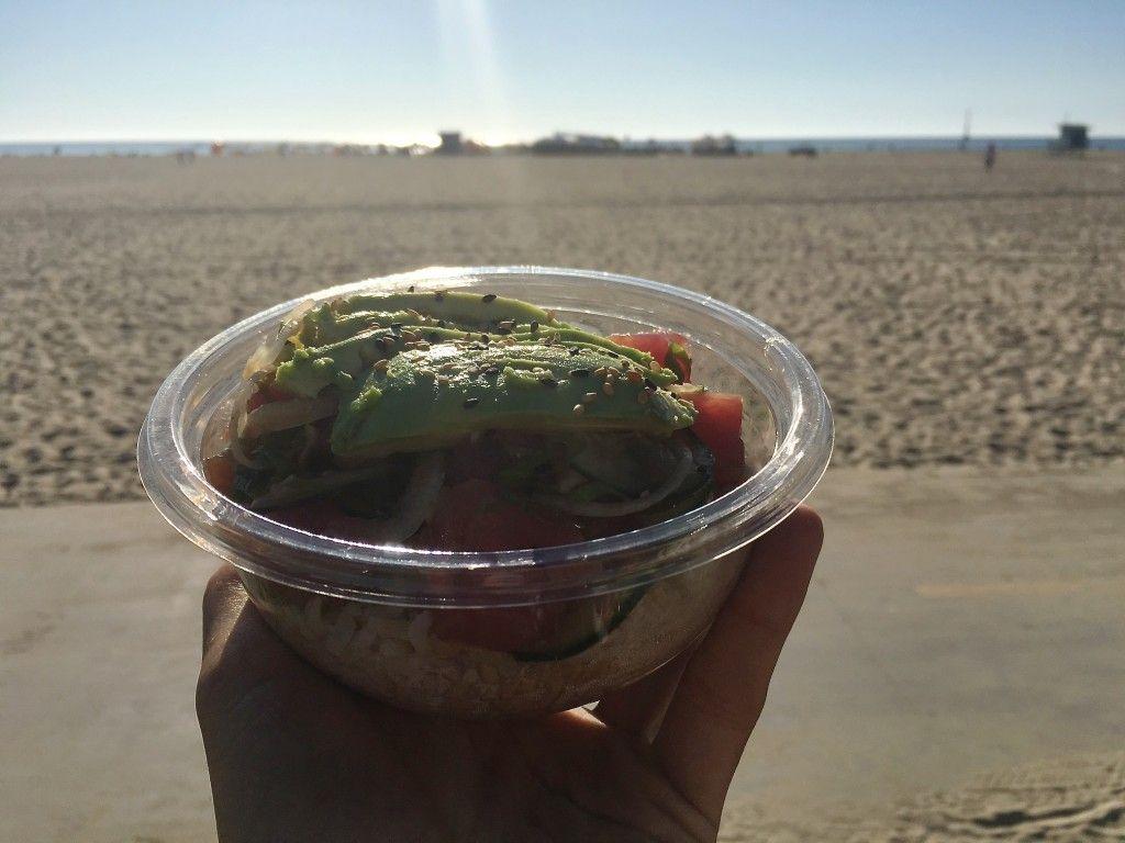 Poke Bowl i Venice Ca