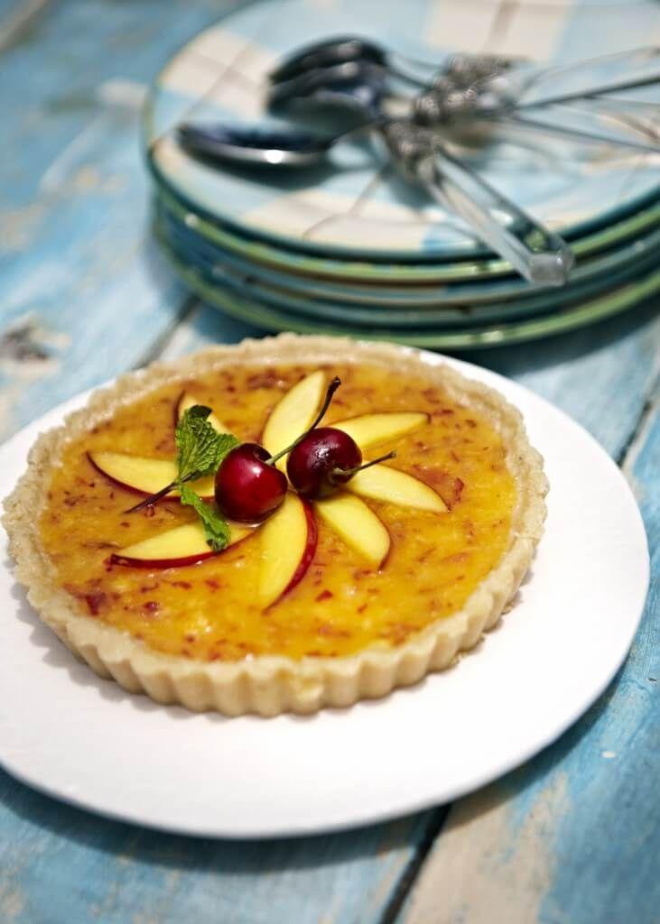 Rawfood paj med persika
