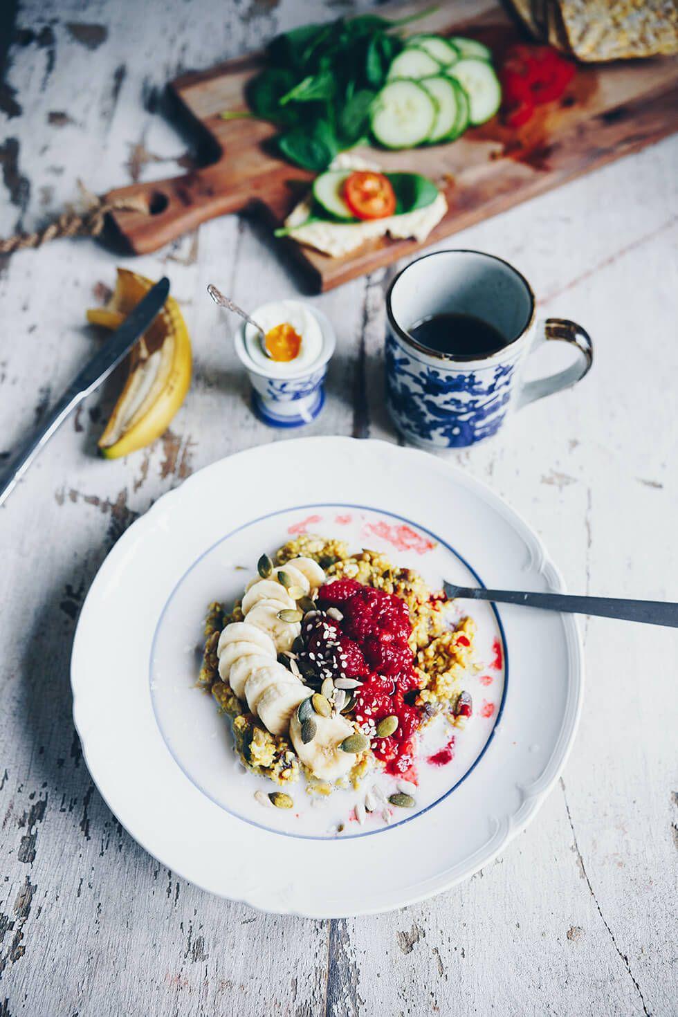 Gyllene bovetegröt, naturligt glutenfri hälsosam frukost
