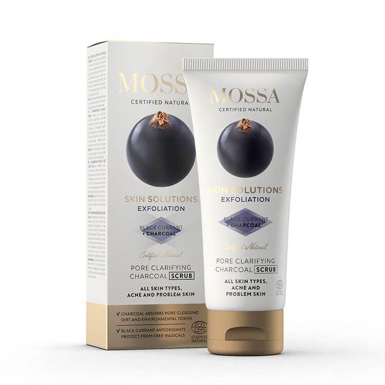 Mossa Skin Solutions Charcoal scrub, 60 ml