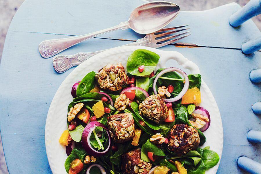 frasiga bollar vegetarisk middag
