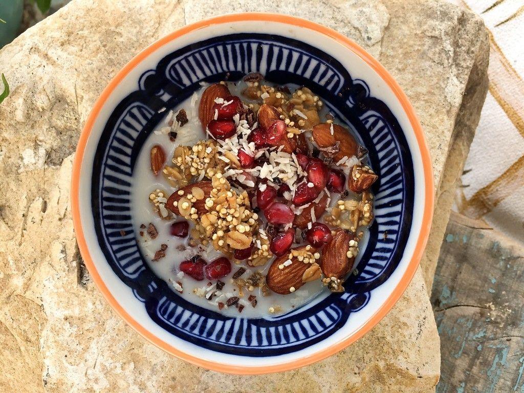 Quinoa granola med Ginjer droppar 3