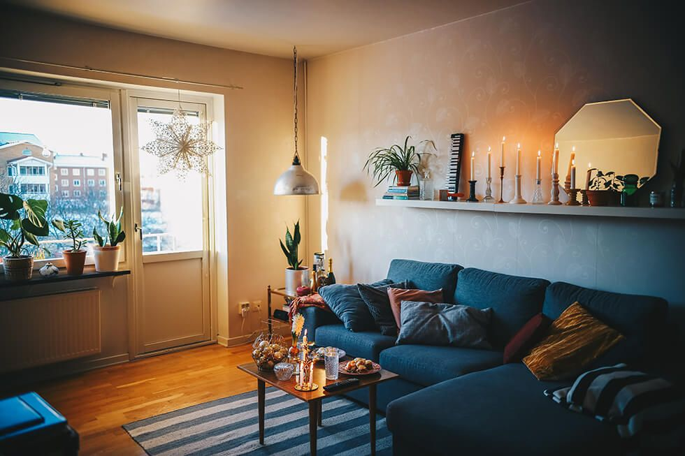Julpyntad lägenhet