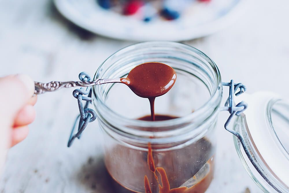 Vegansk chokladsås